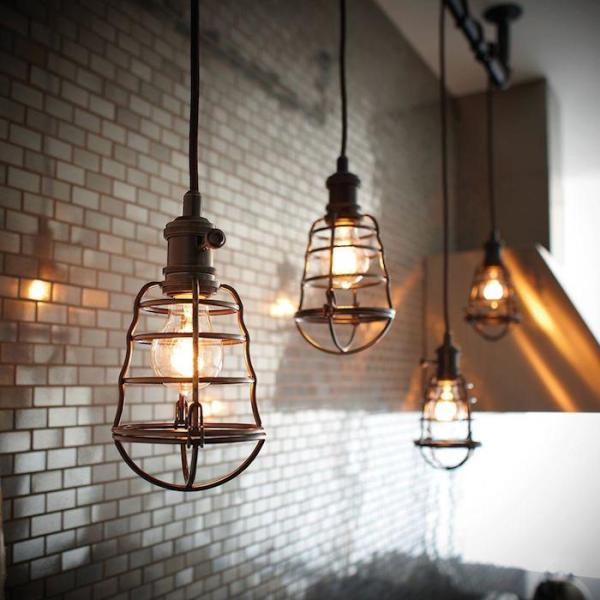 aged-bronze-cage-pendant-light